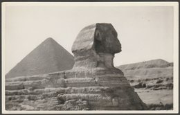 The Sphinx And Great Pyramid, Giza, C.1930s - Jerome Ltd RP Postcard - Gizeh