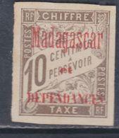 Madagascar Taxe N° 2 Sg  Partie De Série : 10 C. Brun Neuf Sans Gomme Sinon TB - Segnatasse