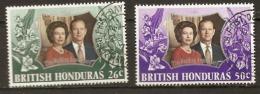British Honduras  1972  SG 341-2 Silver Wedding  Unmounted Mint - British Honduras (...-1970)