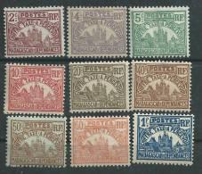 Madagascar Taxe N° 8 / 16  XX, La Série Des 9 Valeurs Sans Charnière,  TB - Timbres-taxe