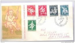 """Nederlande Pays-Bas 1958:  """"Voor Het Kind"""", Michel 723-727 Op FDC UITGIFTE-o S'GRAVENHAGE 17 NOV 1958 - Kindertijd & Jeugd"""
