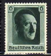 Deutsches Reich, 1937, Mi 646 Geburtstag Hitler * [250818LAII] - Unused Stamps