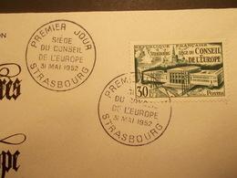Marcophilie  Cachet Lettre Obliteration - Siege Du Conseil De L'Europe - 31/05/1952 - (2125) - Postmark Collection (Covers)