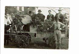 Cpa Carte Photo FËTE CHAR DEGUISEMENT MUSICIENS Souvenir De La Cavalcade De Chabris ?? - France