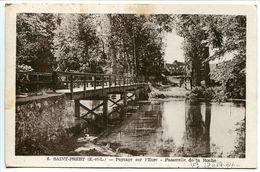 SAINT PREST Paysage Sur L'Eure Passerelle De La Roche ( Pont ) Ecrite Voyagé 1957 - France