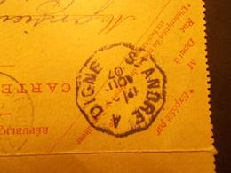 Marcophilie  Cachet Lettre Obliteration - Convoyeurs St Andre à Digne & Orleans à Montargis - 1907 - (2129) - Postmark Collection (Covers)