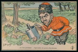 Art BIGOT Russie Royauté Tzar Enfants Choux Caricature Satirique Politique France Carte Postale Cpa Postcard C1900s - Satiriques