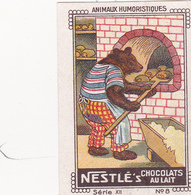 CHROMO 4 X 6 Animal Humanisé Position Humaine Métier Ours Boulanger Teddy Bear Traden Baker Bäker - Nestlé