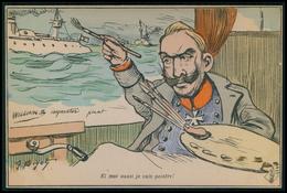 Art BIGOT Alemagne Royauté Guillaume Guerre Caricature Satirique Politique France Carte Postale Cpa Postcard C1900s - Satiriques