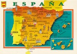 Carte Géographique - Pays - Espana - Espagne - Mapas