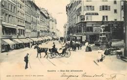 SUISSE , GENEVE , Rue Des Allemands ( Carte Taxée ) , * 381 73 - GE Geneva