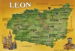 Carte Géographique - SPAIN - Espagne - Espana : LEON - Cartes Géographiques