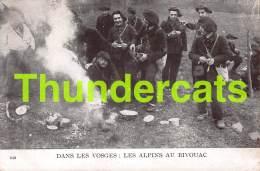 CPA 88 DANS LES VOSGES LES ALPINS AU BIVOUAC - France