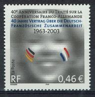 France, Elysée Treaty, Friendship Between France And Germany, 2003, MNH VF - Francia