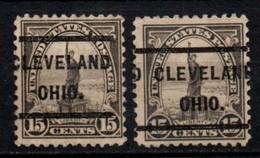 "USA Precancel Vorausentwertung Preo, Locals ""CLEVELAND"" (OHIO). 2 Différents. - United States"