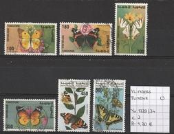 Vlinders - Tunesië Yv. 1229/34 Gestempeld/oblitéré/used - Mariposas