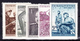 ** Tchécoslovaquie 1951 Mi 691-5 (Yv 600-4), (MNH) - Unused Stamps