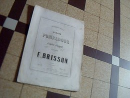Vieux Papier  Partition Caprice Ellegant MARCHE POMPADOUR  Par  F. Brisson - Musique & Instruments