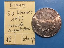 FRANCE : 50 FRANCS HERCULE 1975 - ARGENT 900 - France