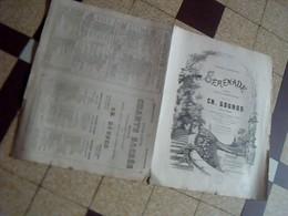 Vieux Papier  Partition De Charles Gounod Serenade Poesie De Victor Hugo Mme Lefebure Wely - Music & Instruments