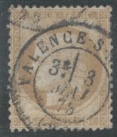 Lot N°44292  Variété/n°55, Oblit Cachet à Date De Valence-sur-Rhône, Drôme (25), Du 3 Mai 1875, Coin SUD EST - 1871-1875 Cérès