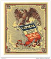 Etiquette  De  Cognac Verbena  -  Jules Hue    9.5 X 11.4 Cm - Labels