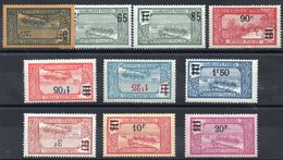 GUADELOUPE - YT N° 89 à 98 - Neufs **/* - MNH/MH  - Cote 57,00 € - Unused Stamps