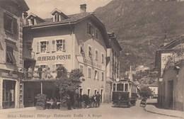 BOZEN-BOLZANO-ALBERGO RISTORANTE =POSTA=TRAM IN PRIMISSIMO PIANO-BELLISSIMA -CARTOLINA ANNO 1910-1920 - Bolzano