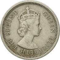 Monnaie, Etats Des Caraibes Orientales, Elizabeth II, 10 Cents, 1955, TTB - Caraïbes Orientales (Etats Des)