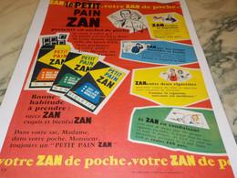 ANCIENNE PUBLICITE PETIT PAIN ZAN 1959 - Posters