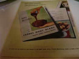 ANCIENNE PUBLICITE CREMES DE DESSERT  LAIT MONT BLANC 1959 - Posters