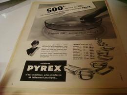 ANCIENNE PUBLICITE PLAT PYREX 1959 - Posters