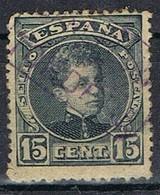 Sello 15 Cts Alfonso XIII, Carteria II TORDERA (Barcelona), Num 244 º - 1889-1931 Reino: Alfonso XIII