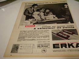 ANCIENNE PUBLICITE  MACHINE A TRICOTER ERKA 1959 - Publicité