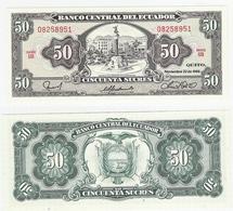 Ecuador  P. 122a  50 Sucres 22.11.1988 UB 08258951 UNC - Equateur