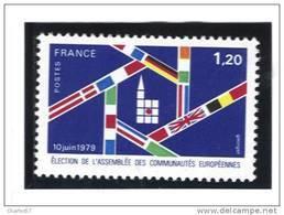 """France:  2050 **  """"Election De L'Assemblée Des Communautés Européennes"""" Cote 0,65€ - Unused Stamps"""