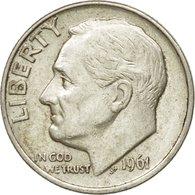 Monnaie, États-Unis, Roosevelt Dime, Dime, 1961, U.S. Mint, Philadelphie, TTB+ - Bondsuitgaven