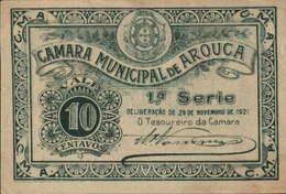 CÉDULA DE 10 CENTAVOS -29-11-1921-(1ª.SÉRIE)-CÂMARA.MUNICIPAL DE AROUCA - Portugal