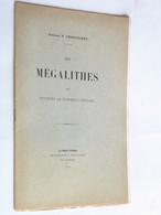 Mégalithes Environs De Clermont-Ferrand Docteur G Charvilhat Plaquette 1910 Dédicace Rare - Books, Magazines, Comics