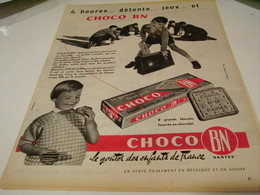 ANCIENNE PUBLICITE 4 HEURES  BISCUIT CHOCO BN 1959 - Affiches