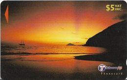 Fiji - Beach At Sunset 2 - 31FJC - 2000, Used - Fiji