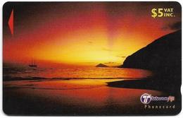 Fiji - Beach At Sunset - 32FJC - 2000, Used - Fiji