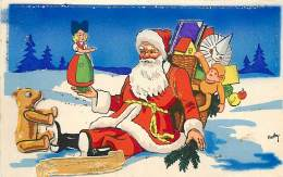 Pere Noel , Ours  Collage Découpi En Relief , * 394 46 - Santa Claus