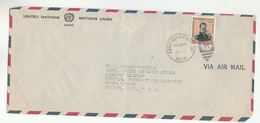 1954 UN In HAITI Airmail To UNITED NATIONS NY USA  Boisrond Stamps COVER - Haiti