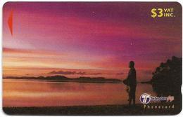 Fiji - Fisherman At Sunset - 30FIB - 2000, Used - Fiji