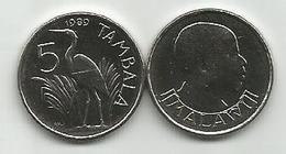 Malawi 5 Tambala 1989. High Grade - Malawi