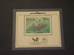 SUD AFRICA-RSA - BF 1989 PESCE - NUOVO(++) - Blocchi & Foglietti