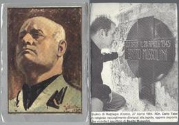 Mussolini: Ritratto - Lapide: Giulino Di Mezzegra (Como) - On. Carlo Tassi, 1984 - Vecchi Documenti