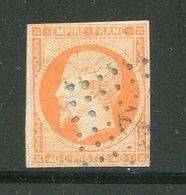 Y&T N°16- Ancre Bleue (signé Au Dos) - 1853-1860 Napoléon III