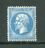 Y&T N°22- Ancre Bleue - 1862 Napoleon III